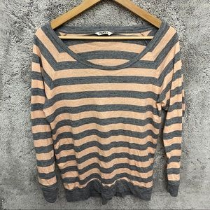 Aritzia TNA Crew Neck Striped Sweater